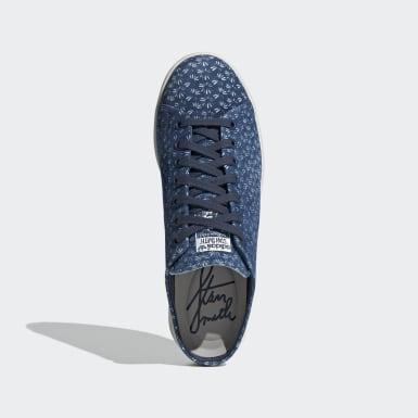 Tenis Stan Smith Sin Talón Azul Hombre Originals