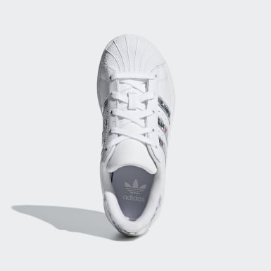 Mädchen Originals Superstar Schuh Weiß