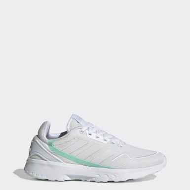 Women Running White Nebzed Shoes