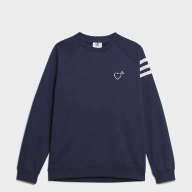 Men Originals Blue Human Made Sweatshirt