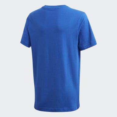 Polera Essentials Linear Logo Azul Niño Training