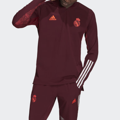 Herr Fotboll Burgundy Real Madrid Ultimate Training Top
