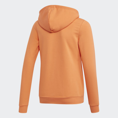 Girls Athletics Orange Linear Hoodie