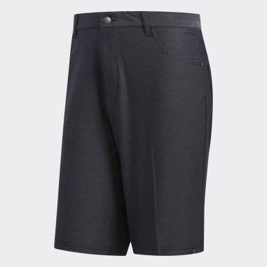 Men Golf Black Ultimate365 Heather Five-Pocket Shorts
