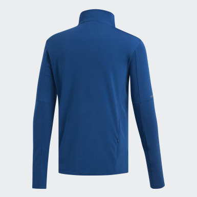 Men's Running Blue Supernova 1/4 Zip Tee