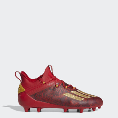 Men's Football Red Adizero New Reign Cleats