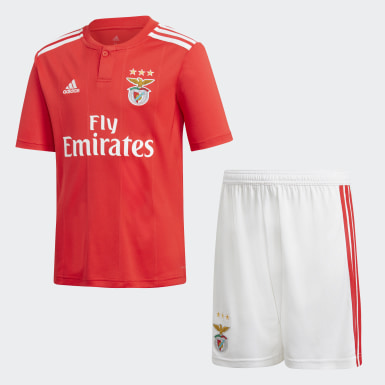 Mini kit Benfica Domicile Rouge Garçons Football