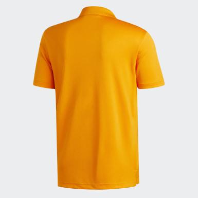 Men Golf Orange Performance Polo Shirt