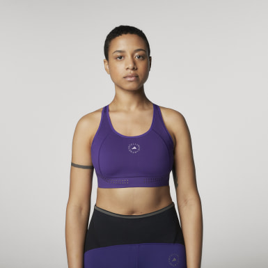 Women adidas by Stella McCartney Purple TruePurpose Medium Support Bra
