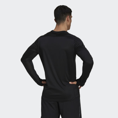 Men Winter Sports Black Own the Run Long Sleeve Tee