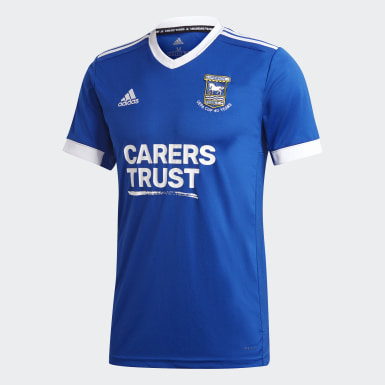 Fodbold Blå Ipswich Town FC 20/21 hjemmebanetrøje