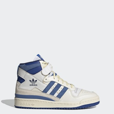 FORUM 84 HIGH BLUE THREAD Blanc Originals