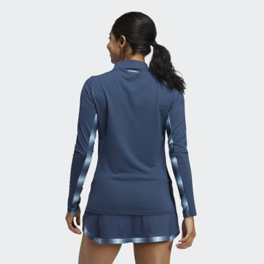 Women's Golf Blue HEAT.RDY Long Sleeve Mock Tee
