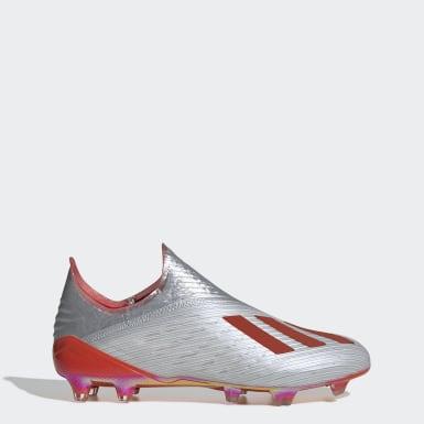 Voetbal zilver X 19+ Firm Ground Voetbalschoenen