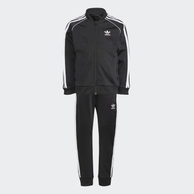 Kids 4-8 Years Originals Black Adicolor SST Tracksuit