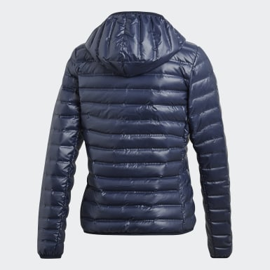 Frauen City Outdoor Varilite Hooded Daunenjacke Blau