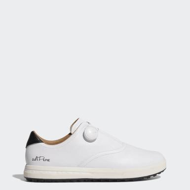 Men Golf White Adipure SP Boa Shoes