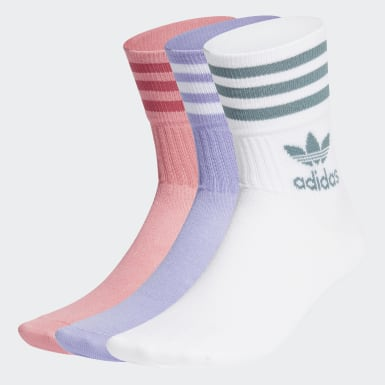 Originals Pink Mid Cut Crew Socks 3 Pairs
