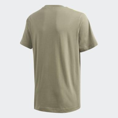 Camiseta Essentials 3-Stripes Verde Meninos Training