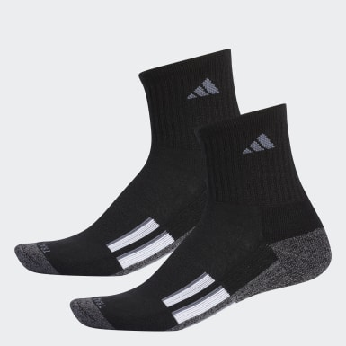 Men's Baseball Black AEROREADY Mid Crew Socks 2 Pairs