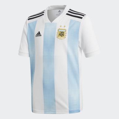 Camiseta Oficial Selección de Argentina Local Niño 2018