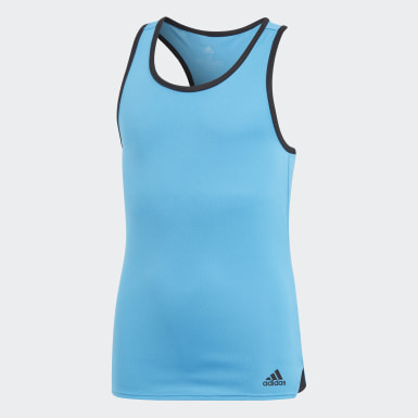 Youth 8-16 Years Tennis Turquoise Club Tank Top