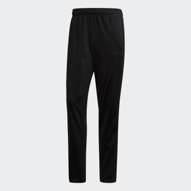 Men's Essentials Black Essentials 3-Stripes Tapered Pants