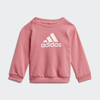 Kids Training Pink Badge of Sport French Terry Jogger