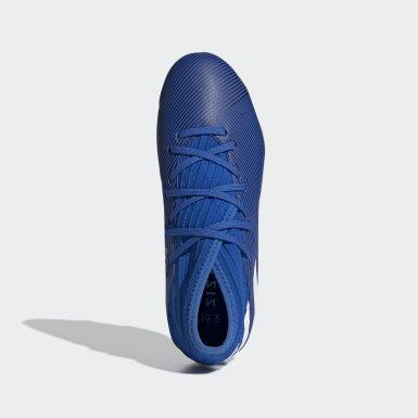 Children Football Blue Nemeziz 19.3 Firm Ground Boots