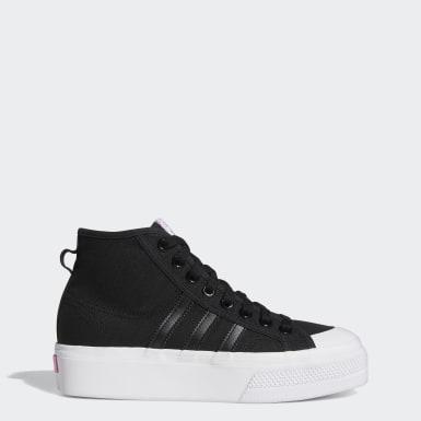 Women Originals Black Nizza Platform Mid Shoes
