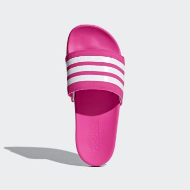 Women Essentials Pink Adilette Comfort Slides