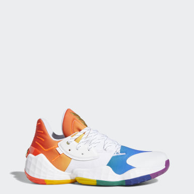 Men's Basketball White Harden Vol. 4 Pride Shoes