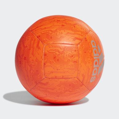 Men's Soccer Orange adidas Capitano Ball