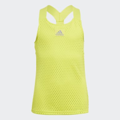Girls Tennis Gul HEAT.RDY Primeblue Tennis Y-tanktop