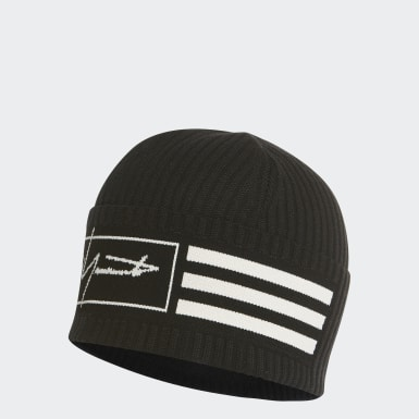 Y-3 Black Y-3 Beanie 3-Stripes