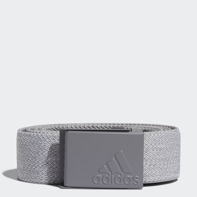 Men Golf Grey Heather Stretch Reversible Belt