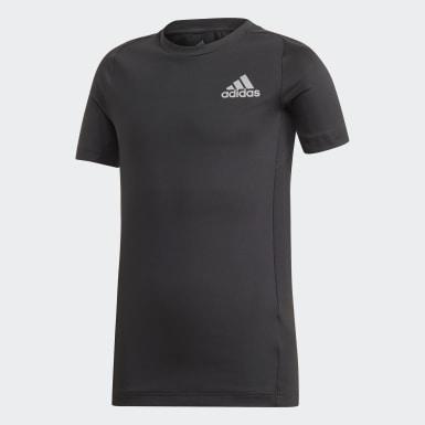 T-shirt Alphaskin Noir Garçons Yoga