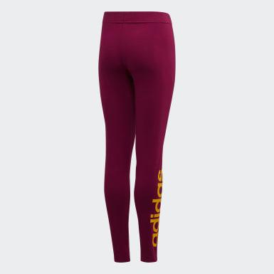Leggings Linear Essentials Roxo Raparigas Athletics