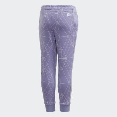 Pantalon La Reine des Neiges2 Slim Leg Violet Filles Training