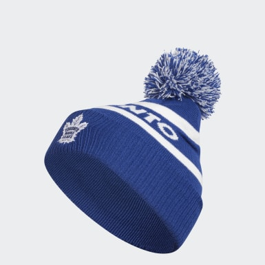 Maple Leafs Cuffed Knit Pom Hat