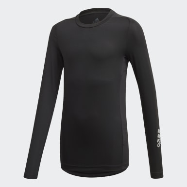 Boys Training Black Alphaskin Long-Sleeve Top