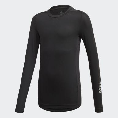 T-shirt TECHFIT Noir Garçons Training