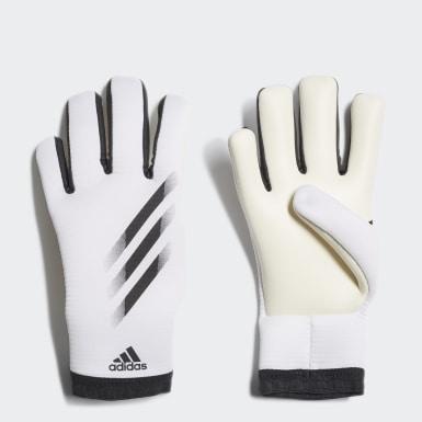 Deti Futbal biela Brankárske rukavice X 20 Training