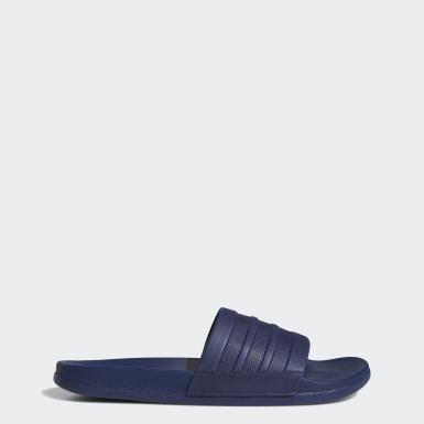 ว่ายน้ำ สีน้ำเงิน รองเท้าแตะแบบสวม adilette Cloudfoam Plus Mono