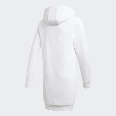 เด็ก ไลฟ์สไตล์ สีขาว เสื้อฮู้ดตัวยาว Cleofus