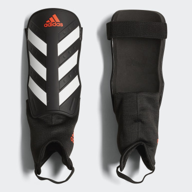 Football Black Everclub Shin Guards