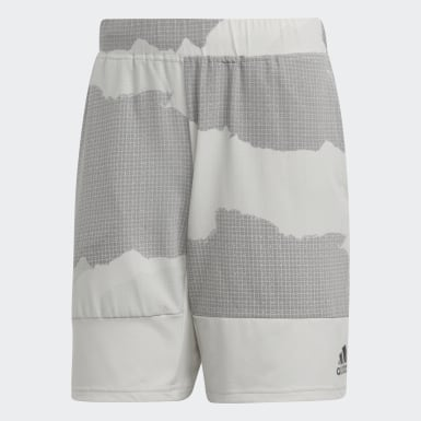 Men Training Grey 4KRFT Tech 8-Inch Camouflage Graphic Shorts
