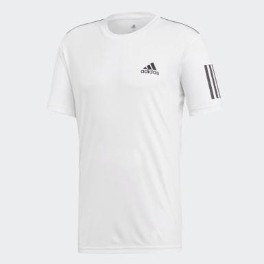Erkek Tenis Beyaz 3 Bantlı Club Tişört