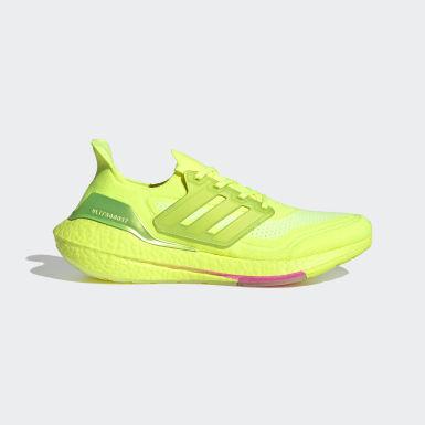 Běh žlutá Boty Ultraboost 21