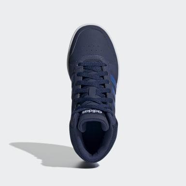 Sapatos Hoops 2.0 Mid Azul Criança Basquetebol